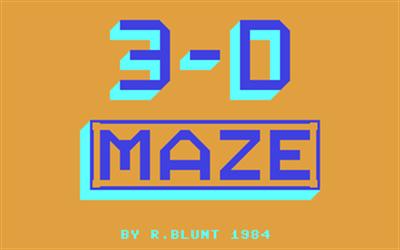 3-D Maze - Screenshot - Game Title