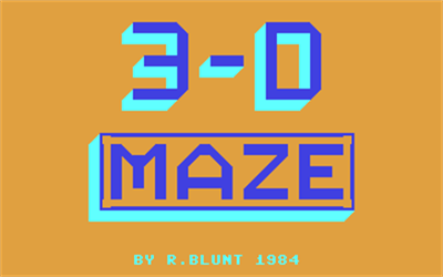 3-D Maze (Sportscene Specialist Press Ltd.) - Screenshot - Game Title
