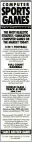 3 in 1 College & Pro Football - Advertisement Flyer - Front