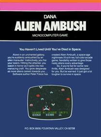 Alien Ambush - Box - Back
