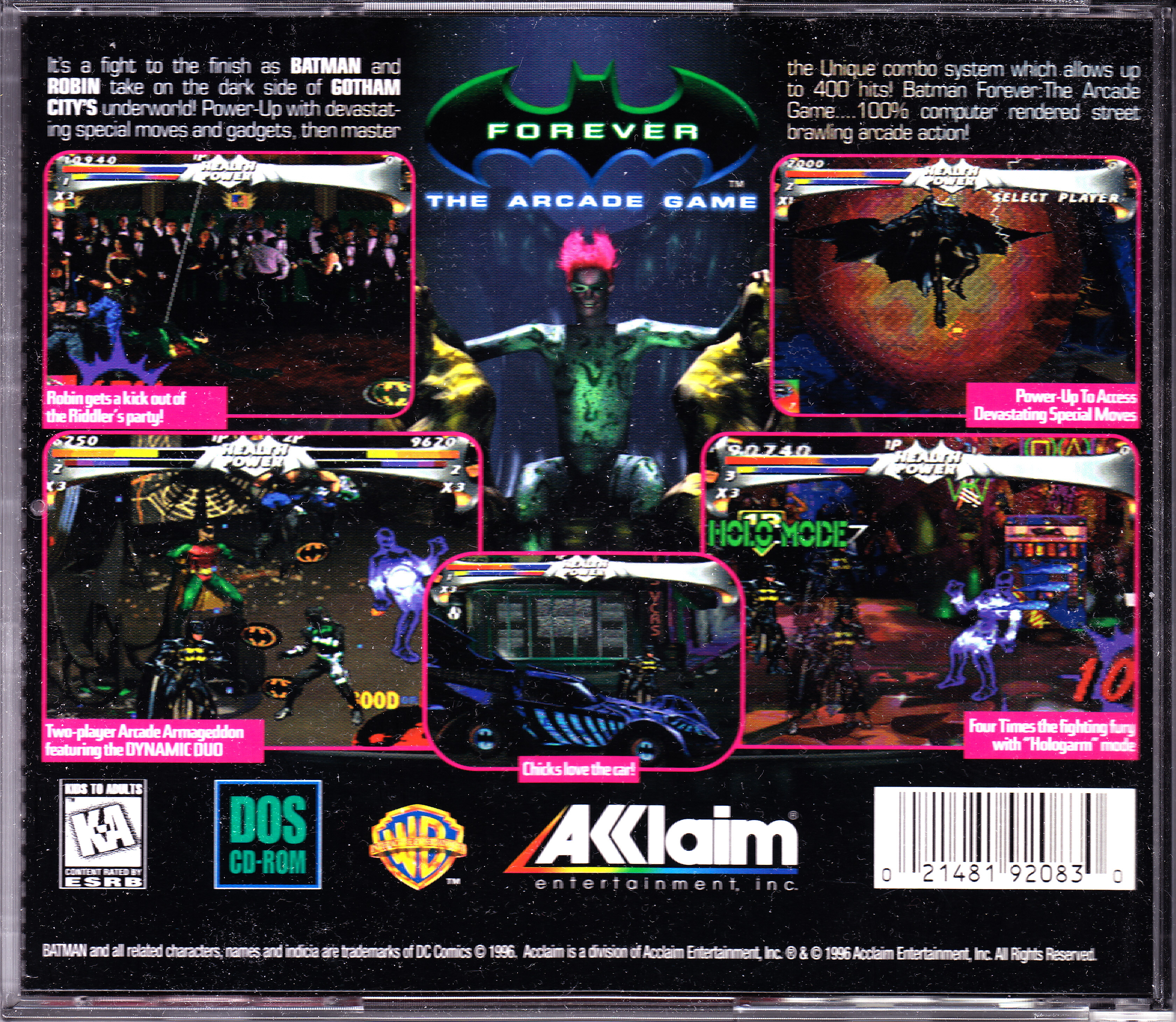 Batman forever: the arcade game (pc) download.