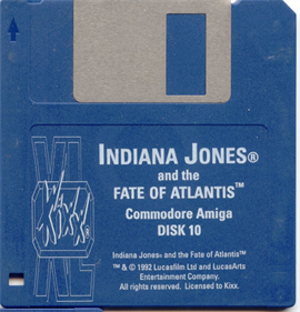 Indiana Jones and the Fate of Atlantis - Disc