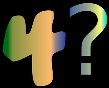 4? - Clear Logo
