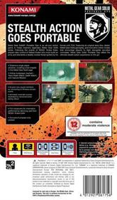 Metal Gear Solid: Portable Ops - Box - Back