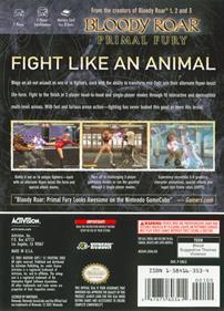 Bloody Roar: Primal Fury - Box - Back