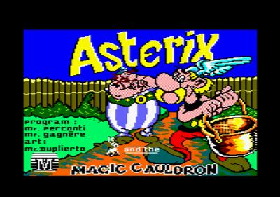 Astérix and the Magic Cauldron - Screenshot - Game Title