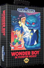 Wonder Boy in Monster World - Box - 3D