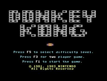 Donkey Kong (Atarisoft) - Screenshot - Game Title