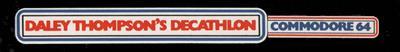 Daley Thompson's Decathlon - Banner