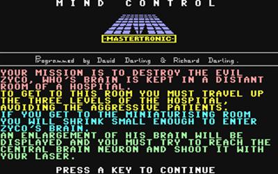 Mind Control - Screenshot - Game Title