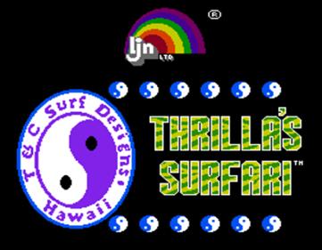 Town & Country Surf Designs II: Thrilla's Surfari - Screenshot - Game Title