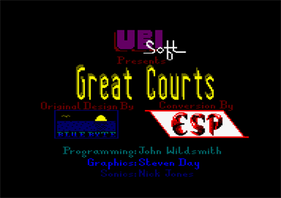 Pro Tennis Tour  - Screenshot - Game Title