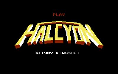 Halcyon - Screenshot - Game Title