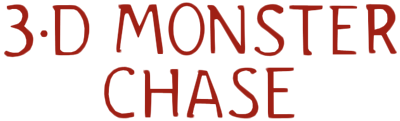 3-D Monster Chase - Clear Logo