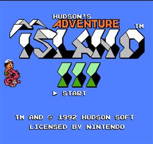 Adventure Island 3 - Screenshot - Game Title
