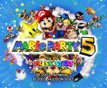 Mario Party 5 - Screenshot - Game Title