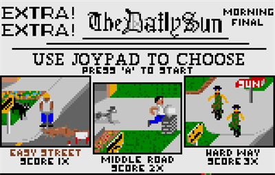 Paperboy - Screenshot - Game Select