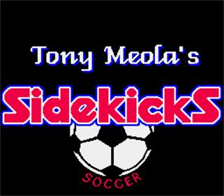 Tony Meola's Sidekicks Soccer - Screenshot - Game Title
