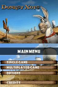 Donkey Xote - Screenshot - Game Title