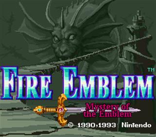 Fire Emblem: Monshou no Nazo - Screenshot - Game Title