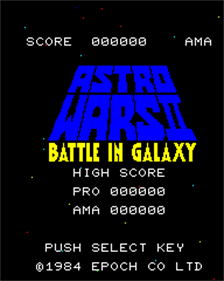 Astro Wars II: Battle In Galaxy - Screenshot - Game Title
