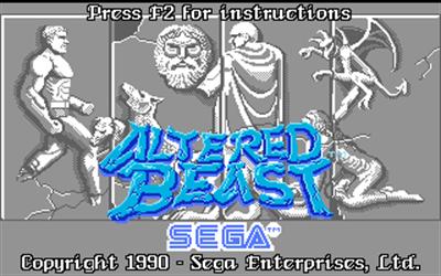 Altered Beast - Screenshot - Game Title