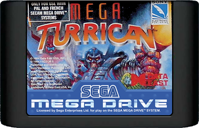 Mega Turrican - Cart - Front
