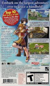 The Legend of Heroes: Trails in the Sky - Box - Back