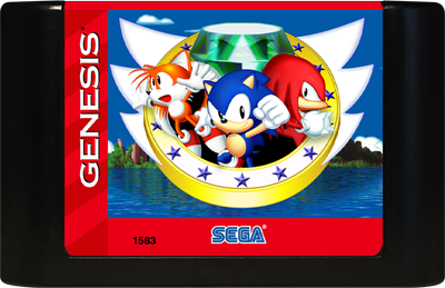 Sonic The Hedgehog 3 Complete - Cart - Front