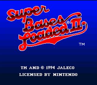 Super Bases Loaded 2 - Screenshot - Game Title