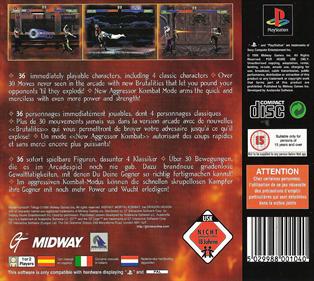 Mortal Kombat Trilogy - Box - Back