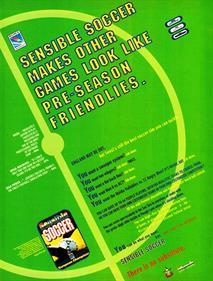 International Sensible Soccer: World Champions - Advertisement Flyer - Front