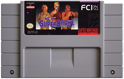 WCW SuperBrawl Wrestling - Fanart - Cart - Front