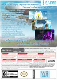 Final Fantasy Crystal Chronicles: My Life as a King - Fanart - Box - Back