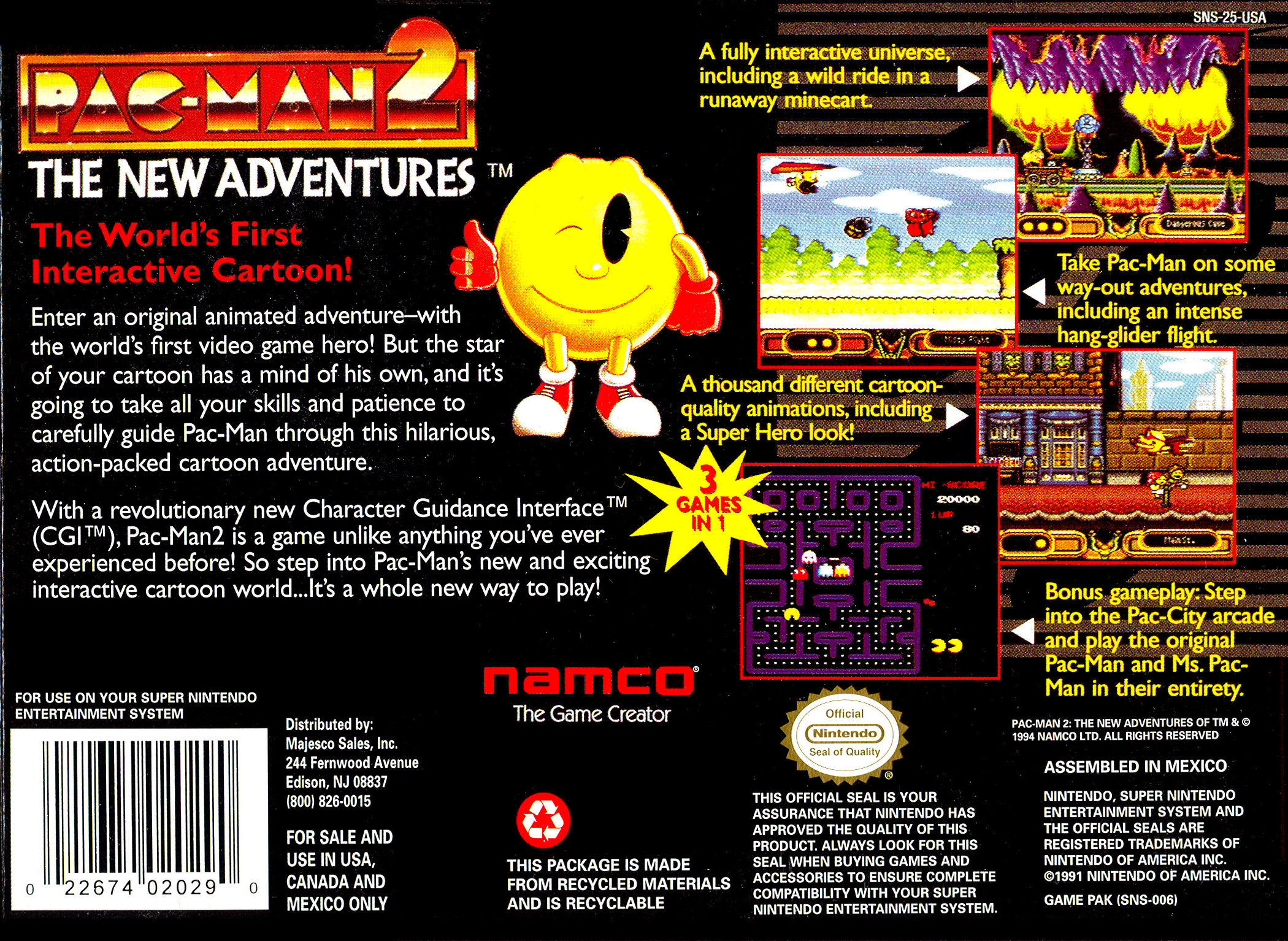 Pac Man 2 The New Adventures Details Launchbox Games