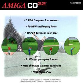 PGA European Tour - Box - Back