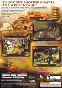 Age of Empires III: The Asian Dynasties - Box - Back