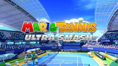 Mario Tennis: Ultra Smash - Screenshot - Game Title