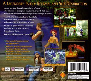 Legend of Legaia - Box - Back