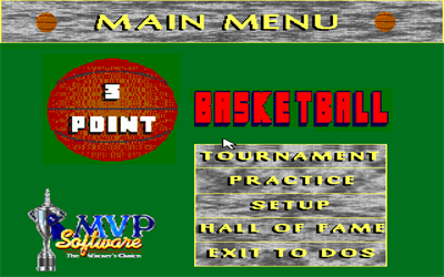 3 Point Basketball - Screenshot - Game Select