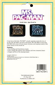 Ms. Pac-Man - Box - Back