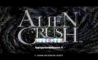 Alien Crush Returns - Screenshot - Game Title