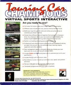 Touring Car Champions - Box - Back