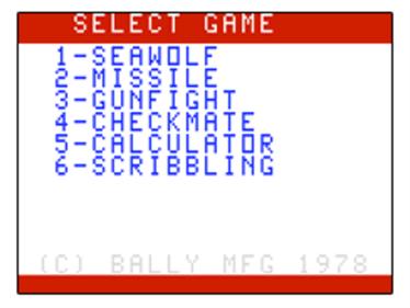 Seawolf + Missile - Screenshot - Game Title