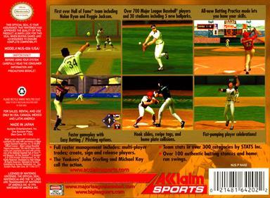All-Star Baseball 2001 - Box - Back