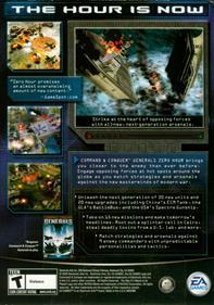 Command & Conquer: Generals: Zero Hour - Box - Back