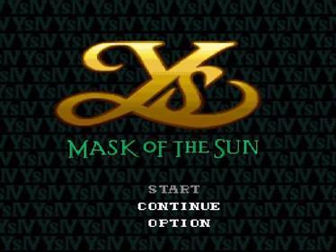 Ys IV: Mask of the Sun - Screenshot - Game Title