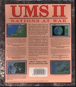 UMS II: Nations at War - Box - Back