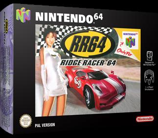 RR64: Ridge Racer 64 - Box - 3D