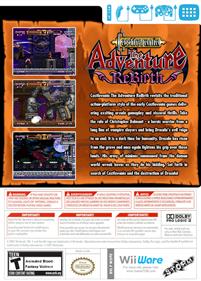 Castlevania: The Adventure ReBirth - Fanart - Box - Back